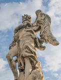 Bernini`s marble statue of angel in Rome, Italy. Bernini`s marble statue of angel from the Sant Angelo Bridge in Rome, Italy Stock Images