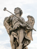 Bernini`s marble statue of angel in Rome, Italy. Bernini`s marble statue of angel from the Sant Angelo Bridge in Rome, Italy Royalty Free Stock Photography
