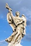 Bernini ` s marmurowa statua anioł w Rzym, Włochy obraz royalty free