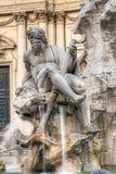 Bernini statue in piazza Navona, Rome Stock Images