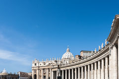 Bernini colonnades and Saint Peter Vatican Royalty Free Stock Photos