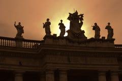 berninikolonner rome s vatican Fotografering för Bildbyråer