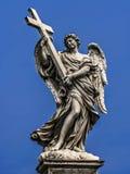 Berninis bro av änglar Rome, Italien Royaltyfria Bilder