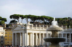 The Berninis colonnades at Vatican Stock Image