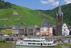 bernkastel Germany kues Mosel rzeka zdjęcia royalty free