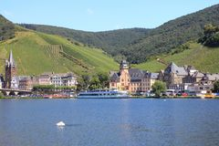 Bernkastel Kues     Germany. Bernkastel-Kues, Germany August 17, 2016: View from the waterside Royalty Free Stock Photo