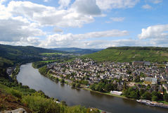 Bernkastel-Kues, Germany, viewed from the castle stock photography