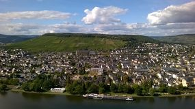 Bernkastel-Kues, Germany, viewed from the castle royalty free stock image