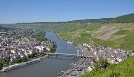 Bernkastel-Kues Mosel flod, germany arkivfoto