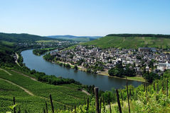 Bernkastel-Kues Mosel. View from castle of Bernkastel-Kues on Mosel river, Germany Royalty Free Stock Image