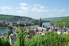 Bernkastel-Kues Mosel. View of Bernkastel-Kues on Mosel river, Germany Stock Photos