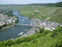 Bernkastel-Kues Mosel. View of Bernkastel-Kues on Mosel river, Germany Royalty Free Stock Image