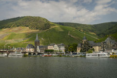 Bernkastel-Kues from Moselle river Royalty Free Stock Images