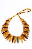Bernsteinfarbige Halskette Lizenzfreies Stockfoto