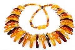 Bernsteinfarbige Halskette Lizenzfreie Stockbilder