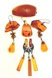 Bernsteinfarbige Schmucksachen Stockfoto