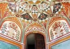 Bernsteinfarbiges Fort in Jaipur Stockfoto