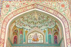 Bernsteinfarbiges Fort in Jaipur Stockbilder