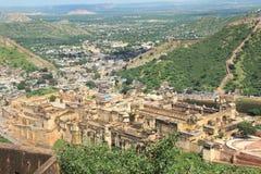 Bernsteinfarbiges Fort.Jaipur.India. Stockbilder
