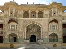 Bernsteinfarbiges Fort - Jaipur - Indien Stockfoto