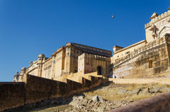 Bernsteinfarbiges Fort in Jaipur, Indien Stockfoto