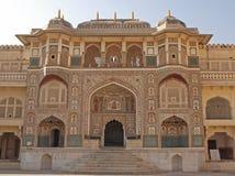 Bernsteinfarbiges Fort, Jaipur, Rajasthan lizenzfreie stockfotografie