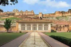 Bernsteinfarbiges Fort Maingate.Jaipur. Stockfotografie