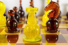 Bernsteinfarbiges Schach Lizenzfreie Stockfotos