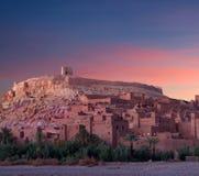 Beroemd Ait Benhaddou Casbah dichtbij Ouarzazate-stad in Marokko royalty-vrije stock fotografie