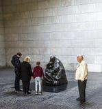 Beroemd beeldhouwwerk van kunstenaar Kaethe Kollwitz in Berliner Wac Royalty-vrije Stock Foto