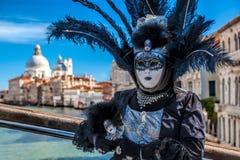 Beroemd Carnaval in Venetië, Italië stock foto's