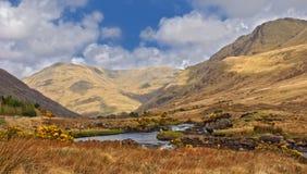 Beroemd connemara beschermd landschap Stock Afbeelding