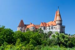 Beroemd Corvin-Kasteel in Hunedoara Royalty-vrije Stock Afbeeldingen
