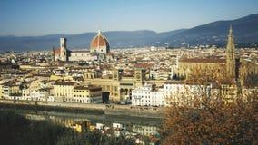 Beroemd Di Santa Maria del Fiore, het oriëntatiepunt van de grote stad, Italië van Florence Cathedral of Cattedrale- stock afbeeldingen