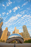 Beroemd en mooi straaloriëntatiepunt in Chicago royalty-vrije stock foto's