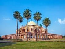 Beroemd graf Humayuns in Delhi royalty-vrije stock fotografie