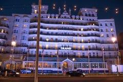 Beroemd Grand Hotel in Brighton Seafront - BRIGHTON, het VERENIGD KONINKRIJK - FEBRUARI 27, 2019 stock fotografie