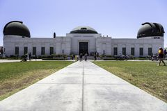 Beroemd Griffith-waarnemingscentrum in Los Angeles stock afbeelding