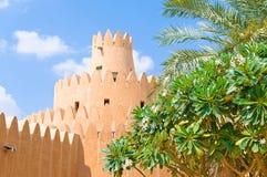 Beroemd Jahili-fort in Al Ain-oase, stock fotografie