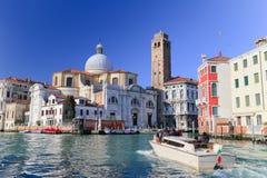 Beroemd Kanaal Grande in Venetië, Italië Royalty-vrije Stock Foto's