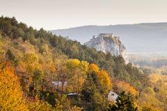 Beroemd kasteel Devin dichtbij Bratislava, Slowakije Royalty-vrije Stock Foto's