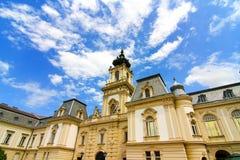 Beroemd kasteel in Keszthely stock afbeelding