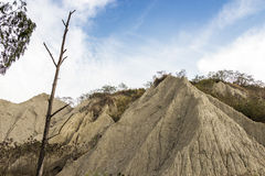 Beroemd landschap van gelijkaardige maanoppervlakte Royalty-vrije Stock Foto