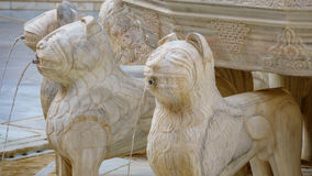Beroemd Lion Fountain-detail in Alhambra Palace, Granada royalty-vrije stock foto's