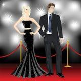 Beroemd luxepaar stock illustratie