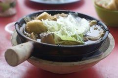 Beroemd Maleis voedsel, klang bedelaars kut Stock Afbeelding