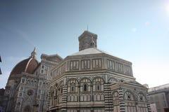 Beroemd monument in het vierkant van Duomo van Florence in Florence stock afbeeldingen