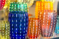 Beroemd Murano-glas in Venetië stock fotografie