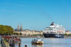 Beroemd Nederlands cruiseschip Prinsendam in Bordeaux, Frankrijk royalty-vrije stock afbeeldingen