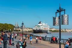 Beroemd Nederlands cruiseschip Prinsendam in Bordeaux, Frankrijk royalty-vrije stock foto
